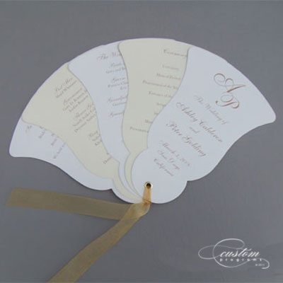 Wedding  Programs Kits on Fan Programs