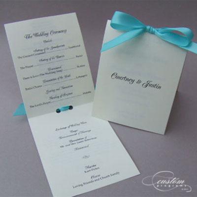 small booklet programs wedding program folded wedding ceremony