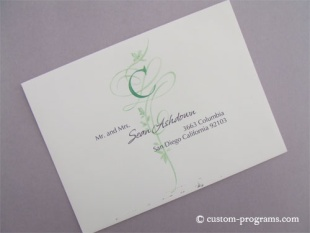 Exquisite Addressing, monogram flourish