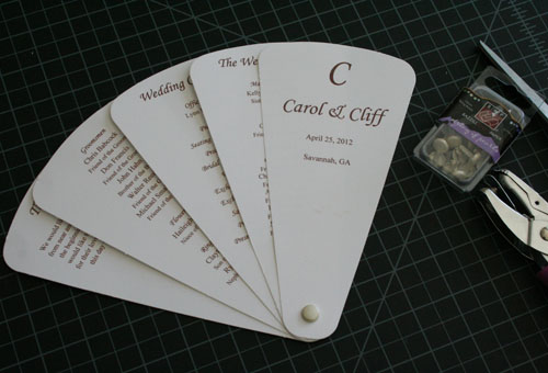 Diy Folding Wedding Program Fan