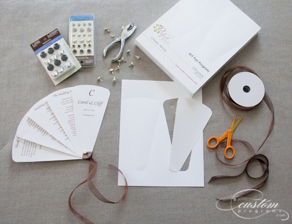 diy wedding program fans template diy folding fan program