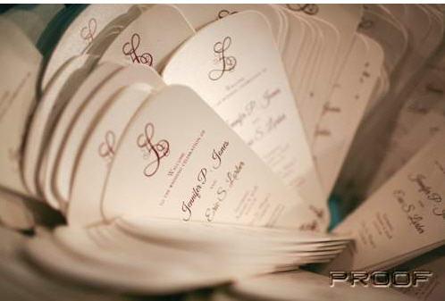 lorber wedding program fans fan programs