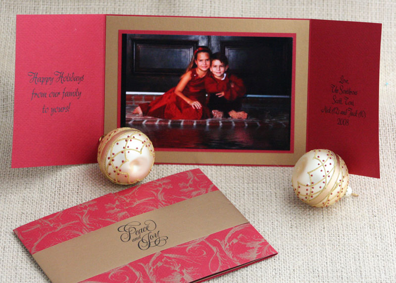 gatefold holiday photo card