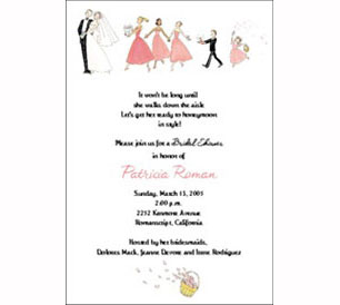Bridal Shower, printed invitation cards