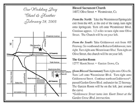 Deluxe Wedding Map