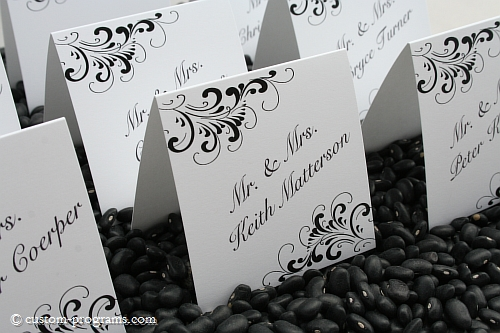 placecards, escort cards, name cards, 3x3 tented placecards