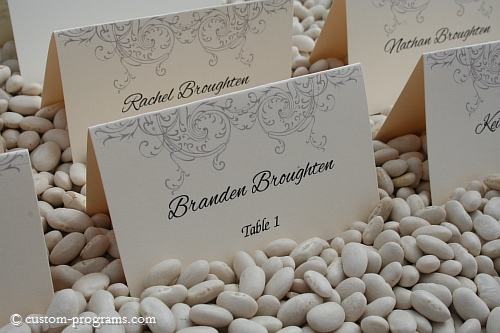 escort cards, name cards, placecards, filigree placecards