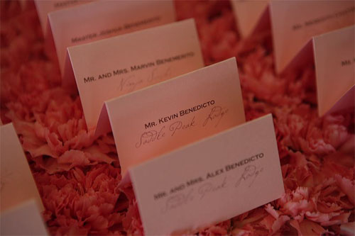 placecards, escort cards, custom printed placecards