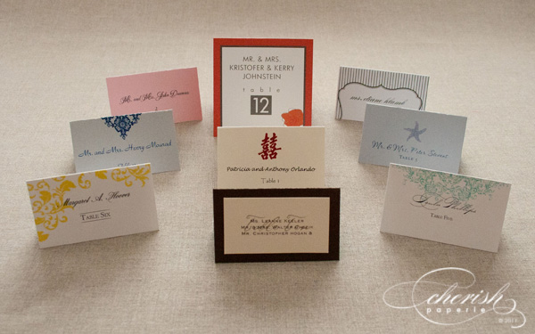 placecards, seating cards