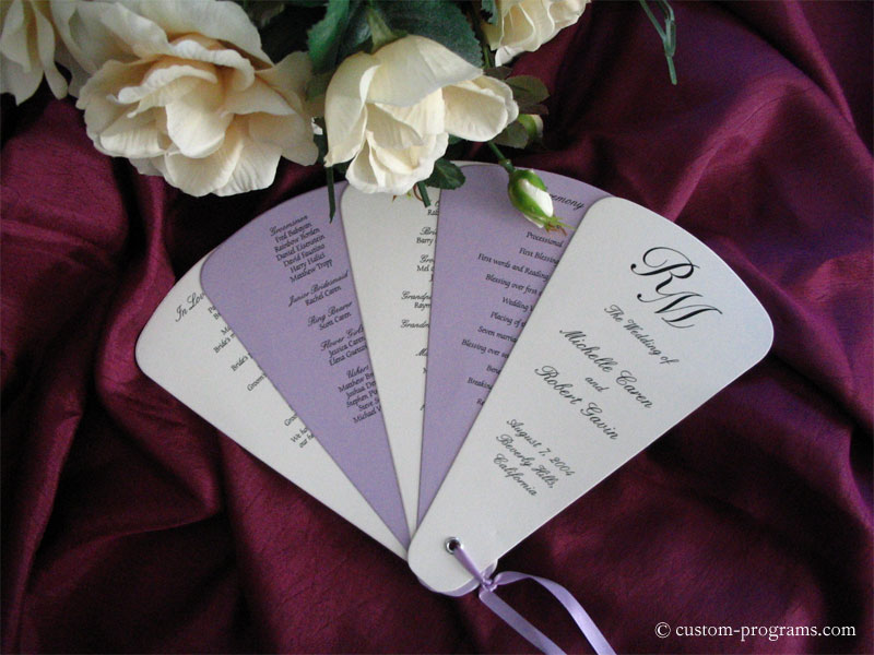 Wedding Program, fan wedding program, wedding program fan, fan program