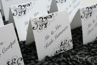 Black Flourish 3x3 PlacecardsPicture