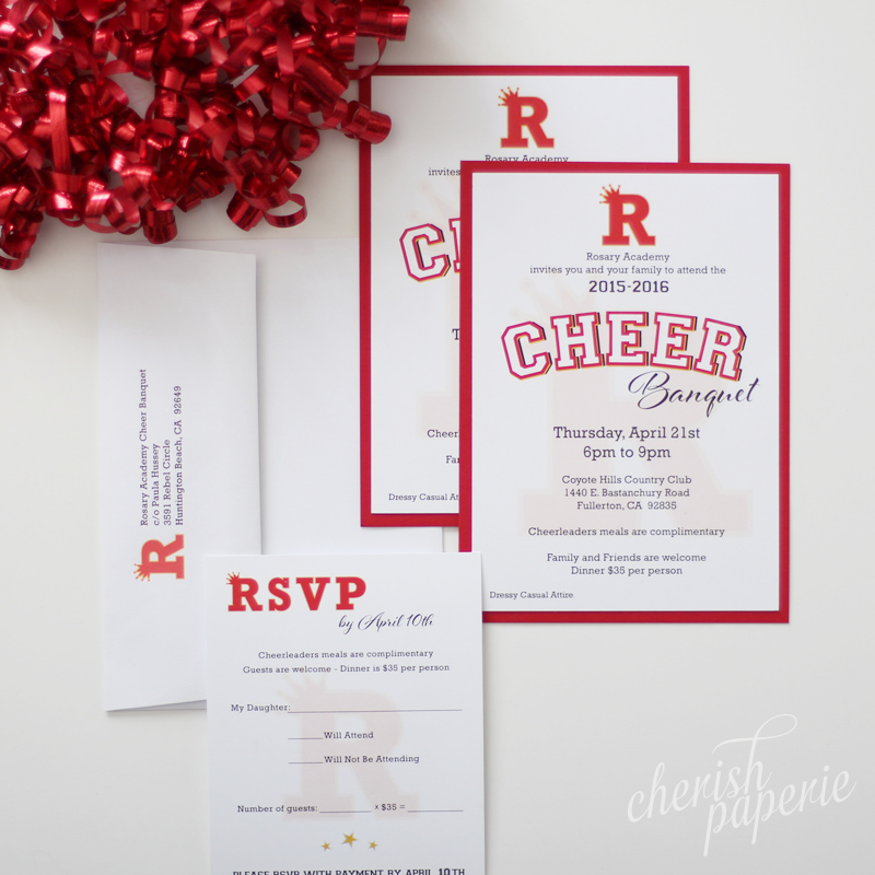 cheer banquet invitation — Invitations Stationeries ...
